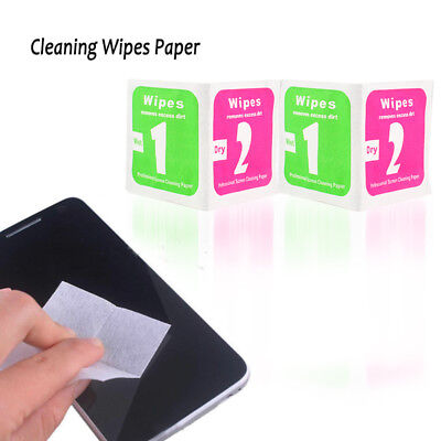 50Set Phone LCD Screen Dust Removal Tool Cleaning Wipes Paper √* RT