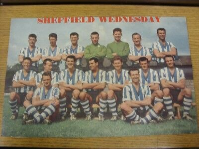 """1960/1961 Autograph(s): Sheffield Wednesday - Team Group [14""""x 9""""] Hand Signed B"""