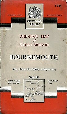 Ordnance Survey Map No.179 BOURNEMOUTH - 1960