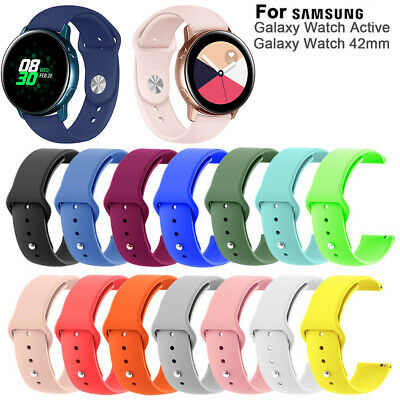Watch Band Silicone Strap Quick Release For Samsung Galaxy Watch Active 42mm Hot