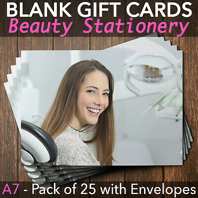 Gift Voucher Dentists Orthodontics Tooth Whitening Stomatology x25 + Envelopes