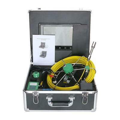 "10""30M 6W LED 145° HD Waterproof Drain Pipe Sewer Inspection Camera IP68 1000TVL"