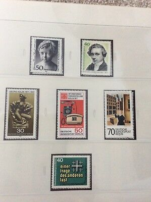 Berlin 1977 .   6 sets  uncounted mint stamps
