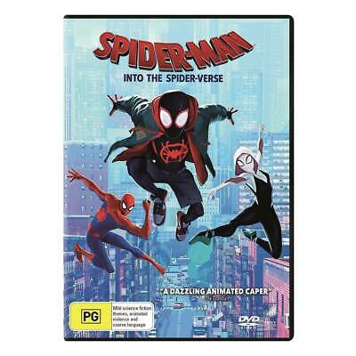 Spider-man Into The Spider-Verse (DVD 2019) Brand New!! Spiderman Spiderverse