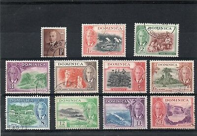 Dominica GV1 1951 short set to 24c  sg 120-130 Used