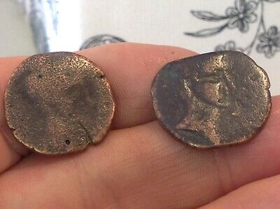 Metal Detector finds-lot Pre-Roman coins-ancient BC artifacts found in Spain A20