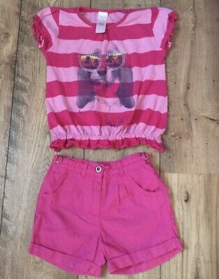 PINK OUTFIT 4-5 yrs Shorts & Dog T Shirt