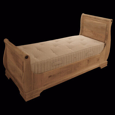 Solid Wood Single French Sleigh Bed - Available Painted Or In Raw Wood