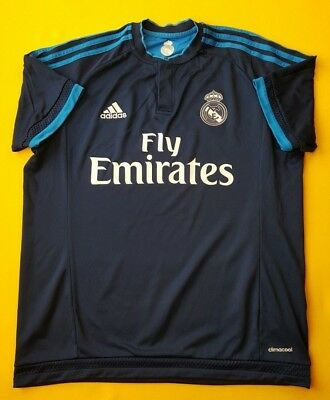 ec75bf8dc 4.4 5 Real Madrid jersey medium 2015 2016 third shirt S12676 Adidas soccer  ig93