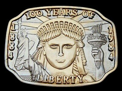 Lc13153 Vintage 1984 **Statue Of Liberty** 100 Years Belt Buckle