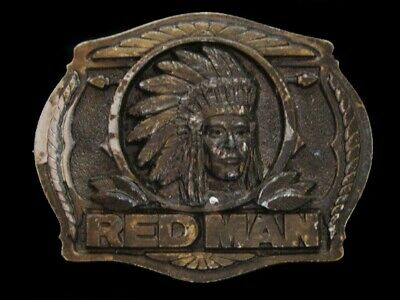 Nf21144 Vintage 1988 **Red Man Chewing Tobacco** Great American Belt Buckle