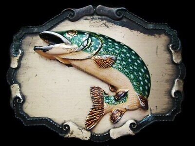 Jl29106 Great Vintage 1978 Raitree ***Speckled Trout*** Jumping Belt Buckle