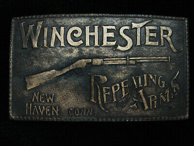 PL13135 VINTAGE 1970s **WINCHESTER REPEATING ARMS** GUN & FIREARM BELT BUCKLE