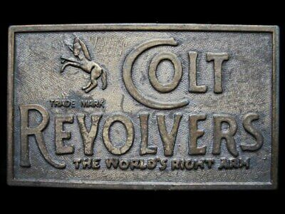 JL31147 VINTAGE 1970s **COLT REVOLVERS** THE WORLD'S RIGHT ARM BELT BUCKLE