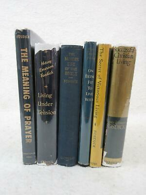 Lot of 6 HARRY EMERSON FOSDICK Books on Christianity Hardcovers