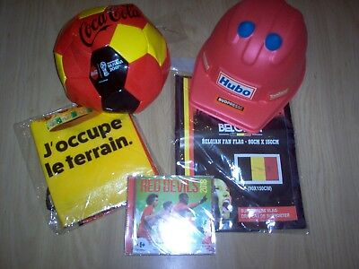 Lot Belgian Red Devils / CD & Ballon Coca Cola Russia 2018 - Drapeau - Tablier