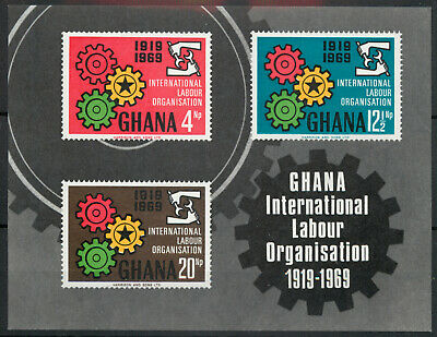 Ghana 1970 ILO sheet SG MS 562 MNH unmounted mint *COMBINED SHIPPING*