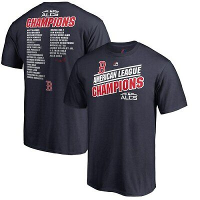 c01d4d56 Majestic Boston Red Sox Navy 2018 American League Champions Catch T-Shirt