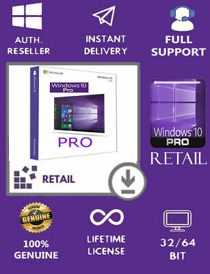Windows 10 Pro 32|64 Bit Win 10 Retail Genuine License Original Activation Key;