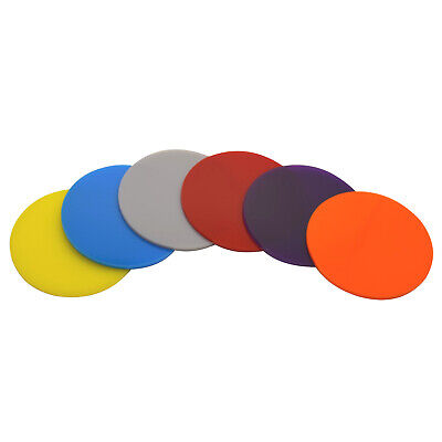 110mm to 200mm diameter 3mm thick coloured cast Perspex Acrylic circles / discs
