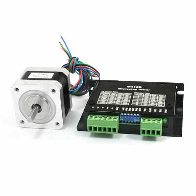 NEMA 17 Mill Robot Lathe CNC Stepper Motor 34mm 0.4A 40oz.in w M415B Driver