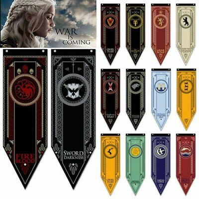 Game of Thrones/Harry Potter House School Banner Flag Wall Hanging Home Decor AA