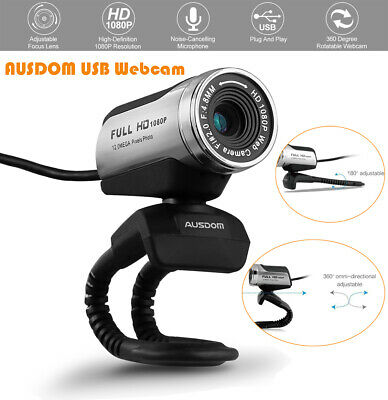 9a1d7b79afb AUSDOM 1080P Full HD Clip-On PC Computer Webcam Video Recorder Camera With  Mic