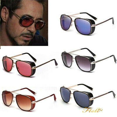 Lot Iron Man 3 Sunglasses Red lens Robert Downey TONY STARK Personalized glasses