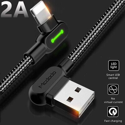 MCDODO Right Angle 90 Degree Micro USB Charger Sync Data Cable For iPhone 6 7 8