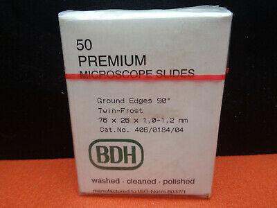 BDH 50 twin frost premium ground microscope slides 76mm x 26mm LOTLAB8DDML