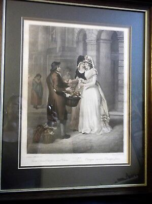 Large Antique Framed Glazed F Wheatly Print Cries London Sweet China Oranges 3