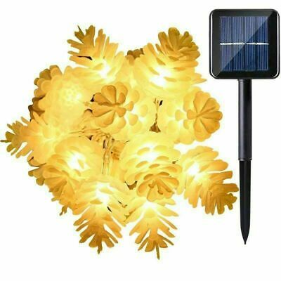 20/30/50 LED Solar Pine Cone/Butterfly String Fairy Light Lamp Party Home Garden