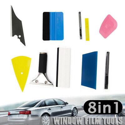 8 in 1 Car Window Tint Sticker Film Wrap Tools Kit for Vinyl Tinting Squeegee UK