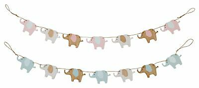Lovely Wooden Elephant Banner Bunting ~ Animal Hanging Garland