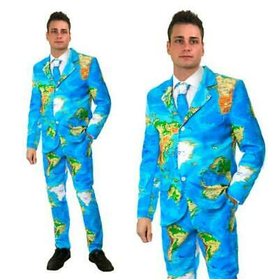 Stag Do Stand Out Map Suit Fancy Dress Party Outfit Funny Comedy Costume