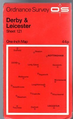 Ordnance Survey  One-Inch Map of Great Britain Sheet  121 Derby and Leicester,