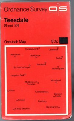 Ordnance Survey  One-Inch Map of Great Britain Sheet 84 Teesdale,