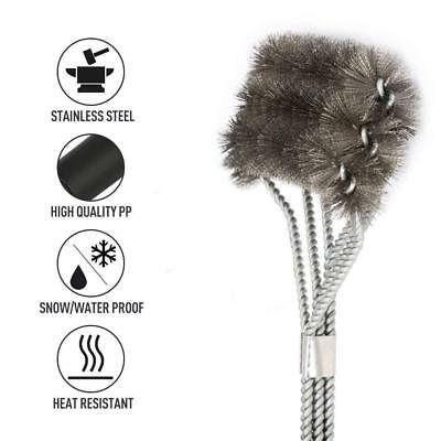 BBQ Grill Cleaning Brush 3 in 1 Stainless Steel Cleaner Barbecue Wire Brush Tool