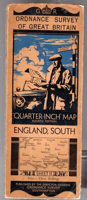 Ordnance Survey Quarter-Inch Map of Great Britain Sheet 11 England South, Anon