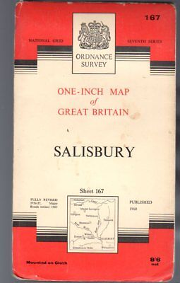 Ordnance Survey  One-Inch Map of Great Britain Sheet 167 Salisbury,