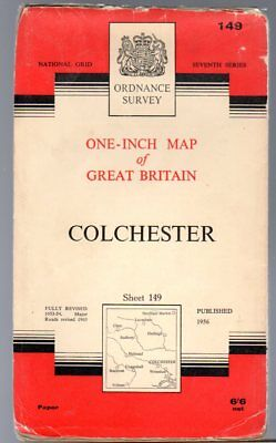 Ordnance Survey  One-Inch Map of Great Britain Sheet  149 Colchester,