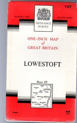 Ordnance Survey  One-Inch Map of Great Britain Sheet 137 Lowestoft,