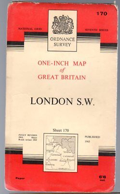 Ordnance Survey  One-Inch Map of Great Britain Sheet 170 London S.W., Anon