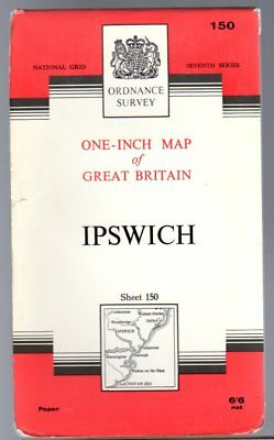 Ordnance Survey  One-Inch Map of Great Britain Sheet 150 Ipswich,