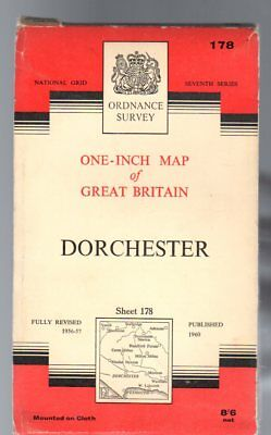 Ordnance Survey  One-Inch Map of Great Britain Sheet 178 Dorchester,