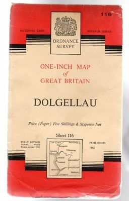 Ordnance Survey  One-Inch Map of Great Britain Sheet  116 Dolgellau,