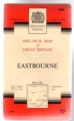 Ordnance Survey  One-Inch Map of Great Britain - Sheet 183 Eastbourne, Anon