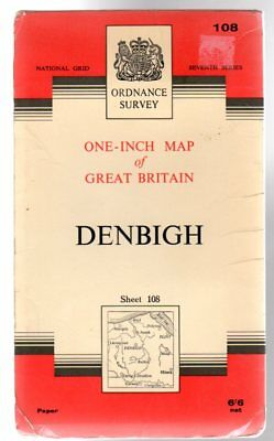 Ordnance Survey  One-Inch Map of Great Britain - Sheet 108 Denbigh, Anon