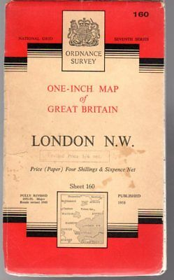 Ordnance Survey  One-Inch Map of Great Britain Sheet 160 London N.W., Anon