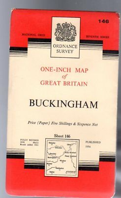 Ordnance Survey  One-Inch Map of England & Wales Sheet 146 Buckingham, Anon
